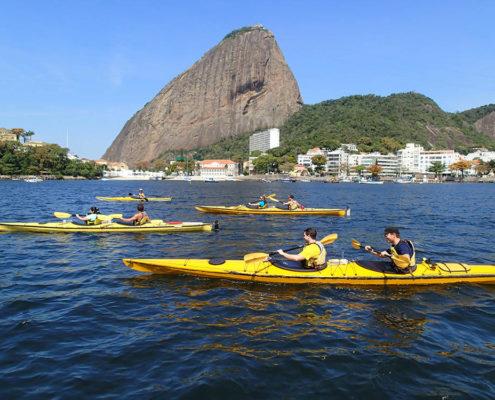 Kayak no Rio de Janeiro