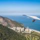 Hang gliding off Pedra Bonita in Sao Conrado, Rio de Janeiro, Brazil